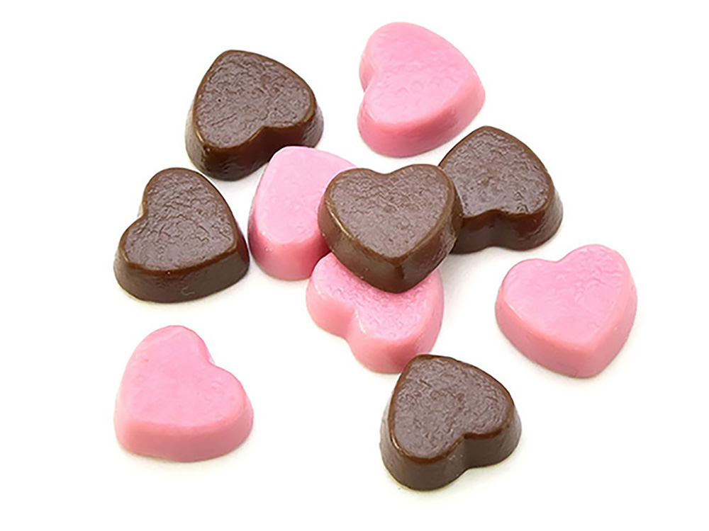 製菓材料,トッピング,業務用,菓子,卸,チョコレート,ミルクチョコレート,ハート,苺,イチゴ,いちご,