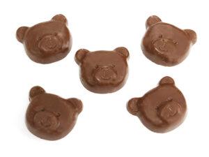 製菓材料,トッピング,業務用,菓子,卸,チョコレート,ミルクチョコ,クマ,くま,熊,ベア,