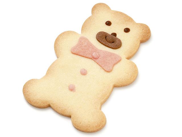 製菓材料,トッピング,業務用,菓子,卸,クッキー,ボーロ,ビスケット,ファニー,かわいい,ベア,熊,クマ,くま,バニラ味,リボン,手作り