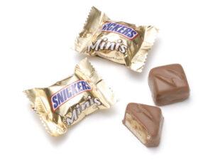 製菓材料,トッピング,業務用,菓子,卸,包装菓子,プティギフト,チョコレート,スニッカーズ,ミニチュア,ピーナッツ,ヌガー,キャラメル,一口サイズ,