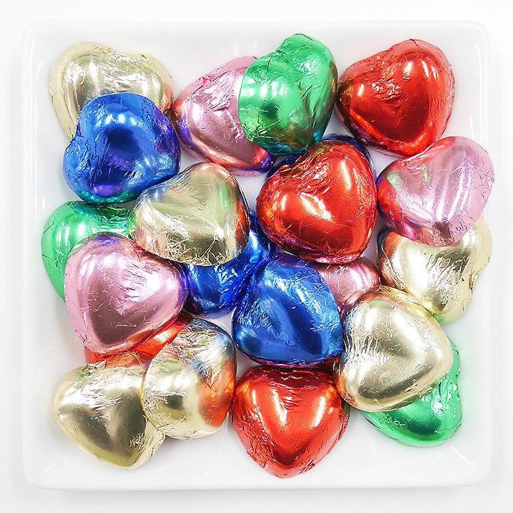 菓子,卸,業務用,包装菓子,ミルクチョコレート,ハート,カラフル,